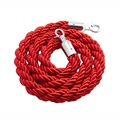 Barrier Rope with Chrome Fittings Red 1.5M